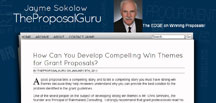 Jayme Sokolow: TheProposalGuru blog screenshot.
