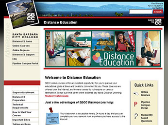 Distance Education at Santa Barbara City College