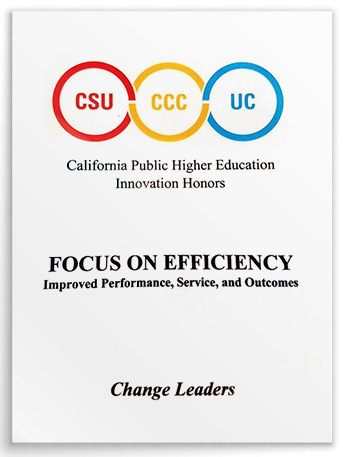 "The Online Education Initiative received the 2017 California Higher Education Innovation Honors ""Change Leaders"" award."