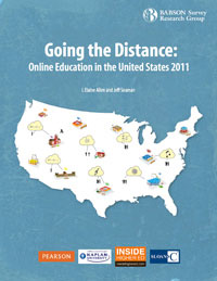Cover of Going the Distance: Online Education in the United States 2011